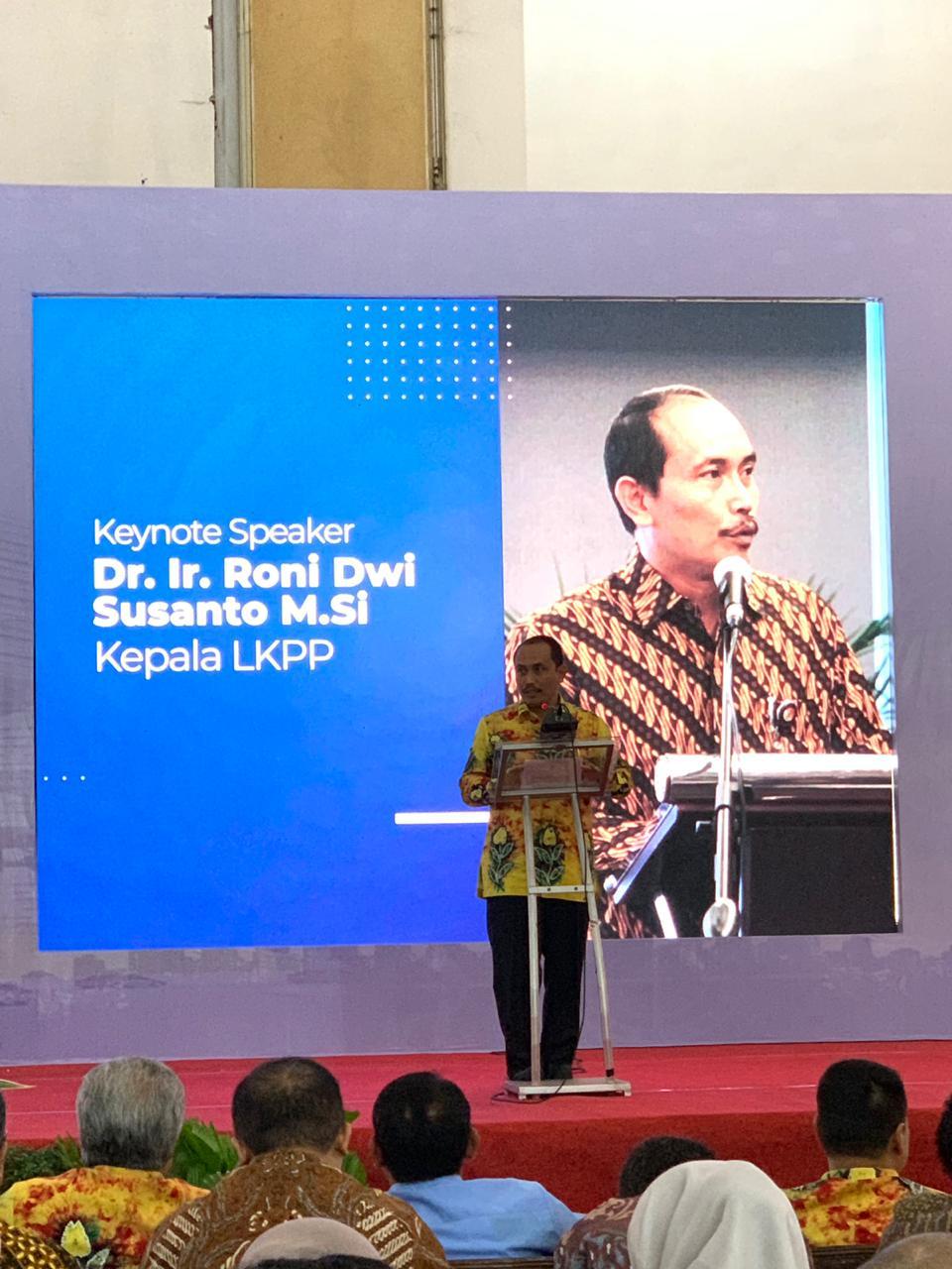 Penyampaian Kepala LKPP Roni DS saat membuka kegiatan Indonesia Procurement Forum Dan Expo (IPFE)